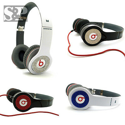 Iced Out Bling Round Pieces Accessory For Beats By Dr.dre Solo & Hd Headphone