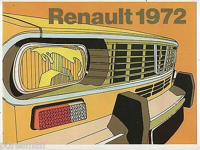 Renault - 4 - 6 - 12Tl - 12 Estate - 16Tl - 16Ts.  English  72  Sales  Brochure.