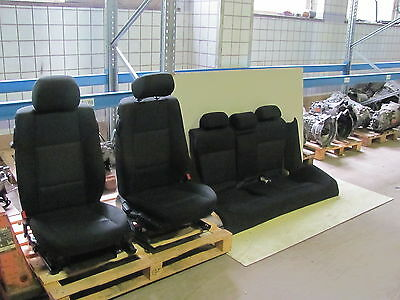 Interior Seats / BMW E46 Coupe / Fabric - Black / from 2004