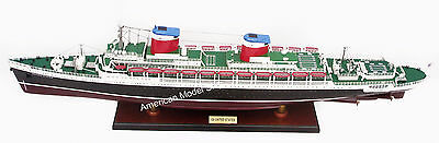 "SS United States Ocean Liner 35"" - Handcrafted Wooden Ship Model NEW"