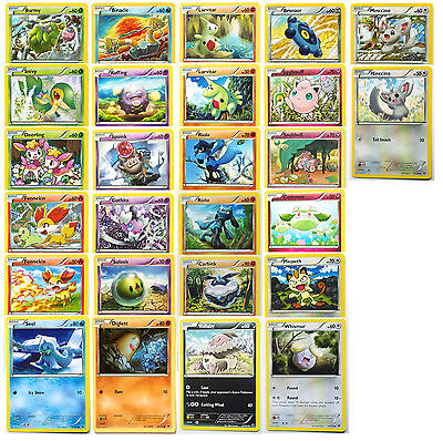 Pokemon 26 cards COMPLETE COMMON set XY10 Fates Collide MINT !!!