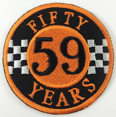 Fifty Years 59 Club - Sew Or Iron On Biker Motorcycle Patch 789