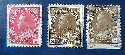 Canada Stamps ---#used Kg Admiral Booklet Singles Lot