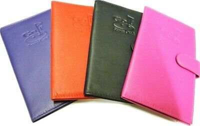 Mala Leather Golf Scorecard holder with pen loop, pink, black, purple or red NEW