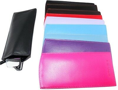 Mala Leather Glasses Sleeve Case reading Lined Colours genuine leather