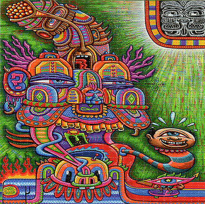Chris Dyer The DIVINE COMEDIAN  BLOTTER ART Psychedelic Perforated Acid Free Art