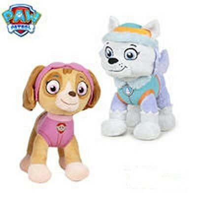 Envío Urgente !!! Pack De 2 Peluches (Skye & Everest) Soft Plush 19 Cms.