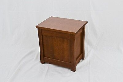 "Slipper chest. Mission style NEW! Red oak. 15"". TE-823"