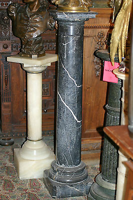 Turn Of The Century Antique  Tall Marble  Pedestal Column