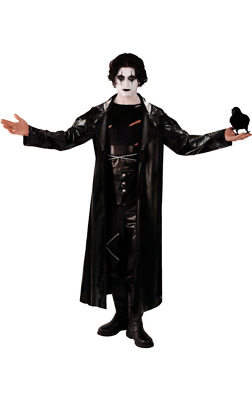 Adult Mens Gothic The Crow Movie Avenger Fancy Dress Costume Halloween