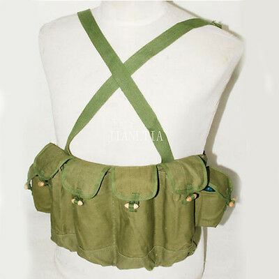 Chinese Army Military 81 Chest Rig Ammo Pouch Ak 47 Type Magazine Bag