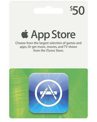 iTunes $50 Gift Card/Certificate US Store for App Store Fast Ship Apple