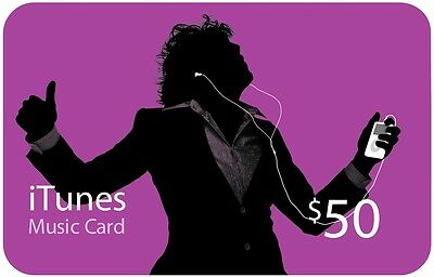 iTunes $50 Gift Card/Certificate US Store Apple FAST SHIPPING