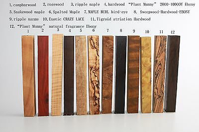 "Selectable-12 kinds pen blank/ game calls wood turning blanks 3/5""x 3/5""x 5 1/4"""