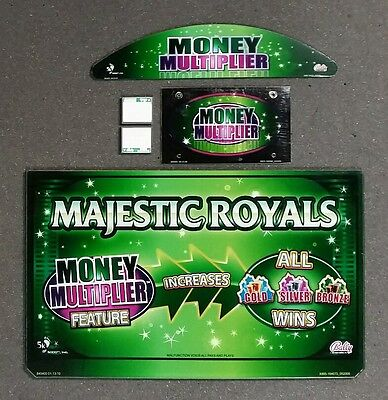 Bally Alpha Video Slot Machine Glass Kit for MAJESTIC ROYALS with Software