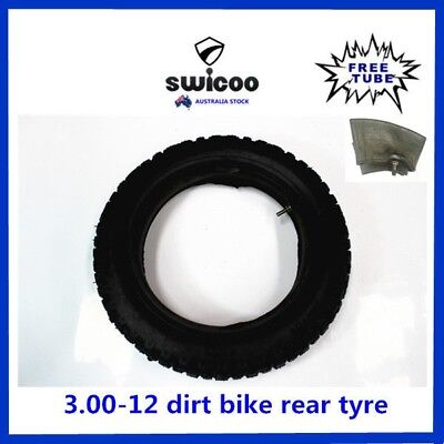 12 Inch 3.00-12 Rear Knobby Tyre With Free Tube Pit Pro Dirt Bike Trail Bike