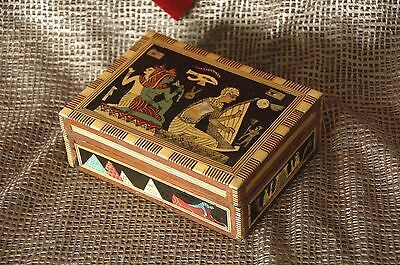 Old Egyptian Inlaid Wooden Box …beautiful pattern