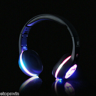 Foldable Bluetooth Headphone Headset Wireless 3D Surround Stereo Earphone + LED
