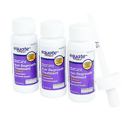 Equate Hair Regrowth For Women 2% Minoxidil Topical Solution 3 Month Supply 3 Ct