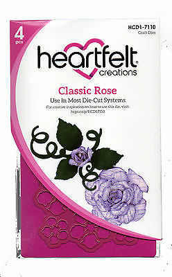 Classic Rose Heartfelt Creations Die for Cardmaking,Scrapbooking, etc