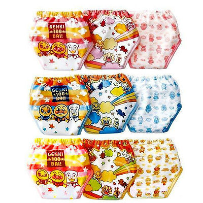 3PCS Baby Kids Girls Boys Cotton Underwear Toilet Potty Training Pants Diaper