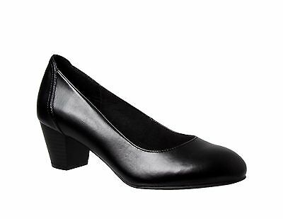 Womens Ladies Grosby - Ivy Shoes Shoe Flip On Low Heel Flats Work Casual Black