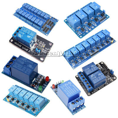 5V 1/2/4/6/8/16 Channel Relay Board Module Optocoupler LED for Arduino ARM AVR