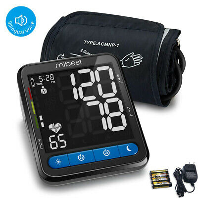 MIBEST Blood Pressure Monitor with Talking Function - Large Screen -FDA Approved