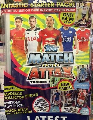 MATCH ATTAX Starter Pack 2016 2017 Album Binder FREE LIMITED EDITION CARD Topps