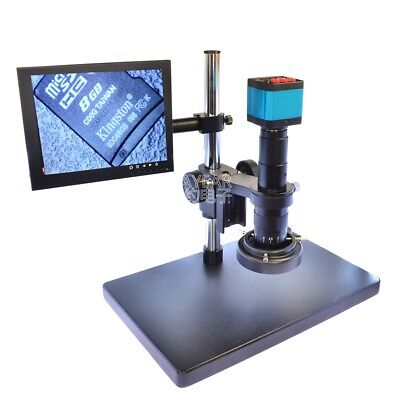 14MP HDMI USB Industry Microscope Camera with 180X C-MOUNT Zoom Lens