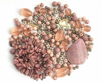 DIY Jewelry Bead Mix Kit Cameo Pink