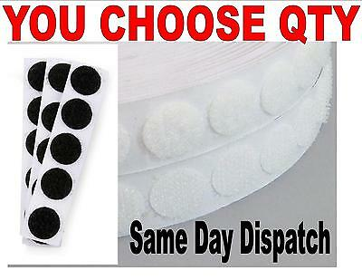 VELCRO® BRAND 13mm Spot circles black white hook and loop you choose quantity