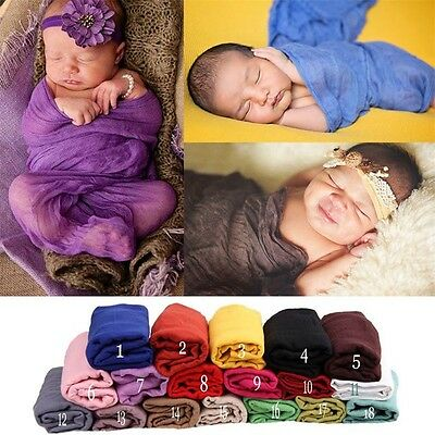 Cute Newborn Baby Girls Boys Cotton Wrap Costume Photo Photography Prop Outfit B