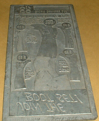 VINTAGE 1960,s CO-OP METAL ADVERTISING PRINTERS PLATE