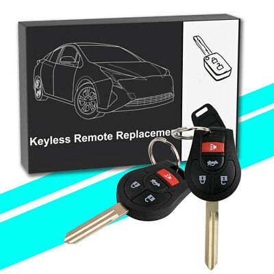 2 Replacement for Nissan 2008-2016 Rogue 2012-2015 Versa Remote Key Fob Uncut