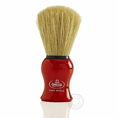 Omega 10065 Pure Bristle Shaving Brush - Red