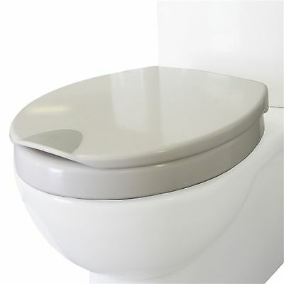 Haron HIGH ASSISTANCE TOILET SEAT White Soft Close & Touch Pad, Raised Lip AUST