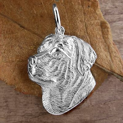 Sterling Silver ROTTWEILER DOG Pendant or Charm