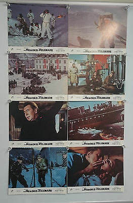 The Heroes of Telemark (1965) UK Lobby Card Front Of House Cards Set of 8 Rare