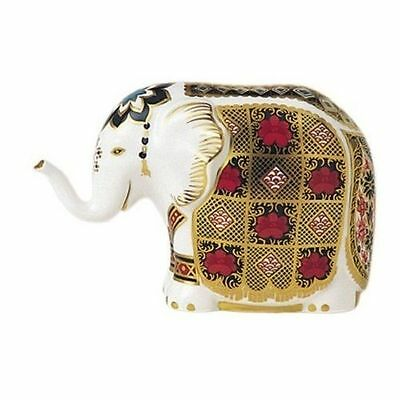 Royal Crown Derby 1st Quality Imari Elephant Paperweight with Gold Stopper