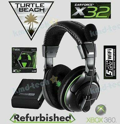 Turtle Beach Earforce X32 Wireless Stereo Gaming Headset For Xbox 360 ~ Rrp$139