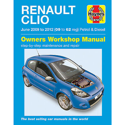 New Haynes Manual Renault Clio 2009 - 2012 Car Workshop Repair Book 6340