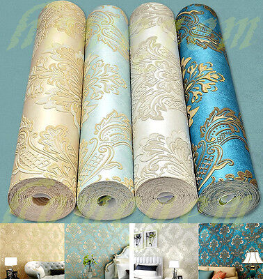 3D Damascus Style Wallpaper Rolls Patterned Mural Decoration for Living Bed room