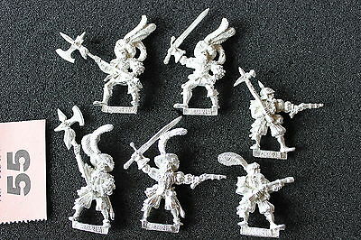 Games Workshop Warhammer Mordheim Averlanders Warband 6 Metal Figures Mint OOP