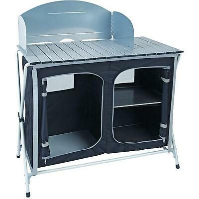 Royal Easy Up Travel Kitchen Cook Stand With Storage Camping BBQ Outdoor 355414
