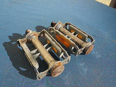 Lyotard Vintage Pedales Vieux Velo Course Ancien Bicycle Pedals Road Racing