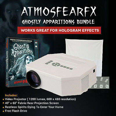Atmosfearfx Ghostly 1200 Lumen Video Projector On DVD