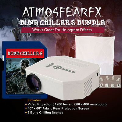 Atmosfearfx Bone Chillers SD Card Projector Bundle with 1200 Lumen