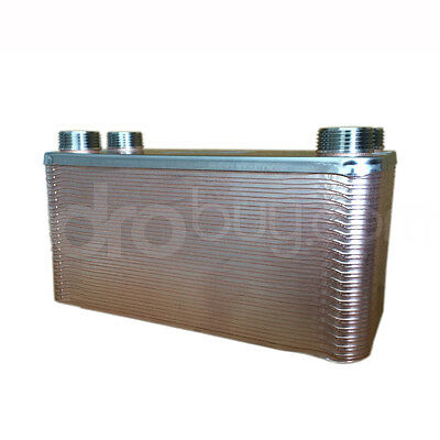"""[ PACETTI ]Heat exchanger by heat a 40 plates 4X3/4""""M Pacetti"""