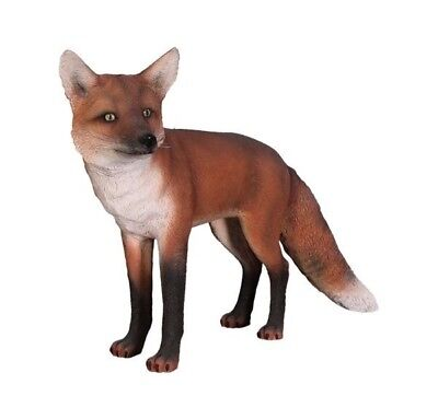 Red Fox Dog Statue Farm Prop Display Life Size Resin Statue